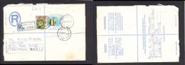 South Africa:  1977 Registered Envelope, Franked 19c, BOCHUM > Pretoria, PEITERSBURG Transit - South Africa (1961-...)