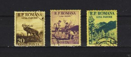 1954, - MOIS DE LA FORET,  MI No 1464/1466 Et Y&T No 1337/1339   Serie Complete - Gebraucht