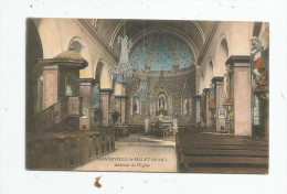 Cp , 76 , GONNEVILLE LA MALET , Intérieur De L'église , Vierge - Otros Municipios