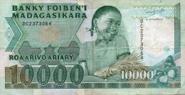 MADAGASCAR : 10000 Frcs 1988 (vf) - Madagascar