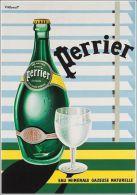 Postcard - Poster Reproduction - Perrier Eau Minérale Gazeuse Naturelle 1952 - Publicité