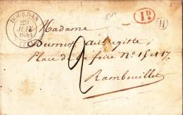 1317# LETTRE Datée De MAIRIE SAINT CYR BOITE RURALE H DECIME RURAL Obl DOURDAN 1845 T13 SEINE ET OISE ESSONNE - 1801-1848: Precursors XIX