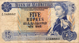 MAURITIUS : 5 Rupees 1967 (fine) - Maurice