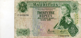 MAURITIUS : 25 Rupees 1967 (fine) - Maurice