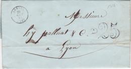 1319# LETTRE Datée De LIVRON Obl LORIOL 1850 T15 DROME - Postmark Collection (Covers)