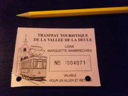 Ticket TRAMWAY - Wambrechies Aller Retour - Tramways