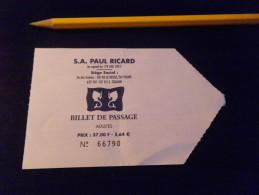 Ticket Bateau - SIX FOURS LE BRUSC - PAUL RICARD - Adulte - Europe