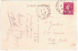"1932- C P A De ""Freudeneck"" Affr. 20 C  Oblit. Amb. Als.Lorr. MOLSHEIM A SAVERNE 1° - Railway Post"