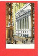 NEW YORK  Cpa Animée The Stock Echange - Wall Street