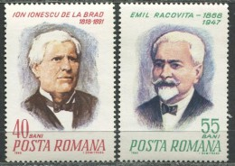 Ion Ionescu De La Brad (Agronomist), Emil Racovita (Explorer,Bio-Speologist), 1968 - Célébrités