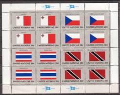 Vereinte Nation , UNO , New York , Kleinbogen , 1981 , Mi.Nr. 377 - 380 ** / MNH - New York – UN Headquarters