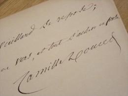 Camille DOUCET (1812-1895) Poète ACADEMIE FRANCAISE - Pensée Autographe Signée - Autographes