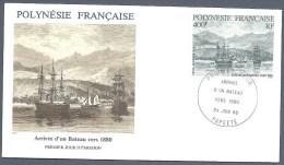 POLYNESIE FRANCAISE FDC Du PA 191 YT EPJ Arrivée D´un Bateau Vers 1880 1986 - FDC