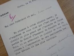 Antoine BORREL (1878-1961) Député SAVOIE - Moutiers - Route ISERAN - Autographe - Autógrafos