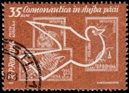 ROMANIA - Scott #C119 Space Exploring (*) / Used Stamp - Airmail