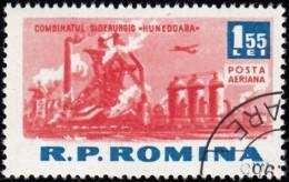 ROMANIA - Scott #C133 Hunedoara Metal Factory (*) / Used Stamp - Airmail