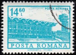 ROMANIA - Scott #C193 Otopeni Airport (*) / Used Stamp - Airmail