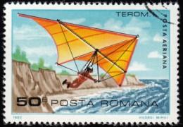 ROMANIA - Scott #C244 Hang Glider; Standard (*) / Used Stamp - Airmail