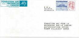 France PAP Postréponse Ciapppa-Kavena: Fondation ARC Pour La Recherche Sur Le Cancer - Prêts-à-poster: Réponse /Ciappa-Kavena
