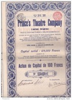 10 ACTIONS PRINCE'S THEATRE COMPANY (TIRAGE 1250)  LIASSE DE 10 ACTIONS - Cinéma & Théatre