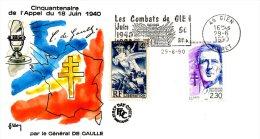 FRANCE. Superbe Enveloppe Commémorative De 1990. Appel Du 18 Juin 1940 De De Gaulle/Combats De Gien. - De Gaulle (General)