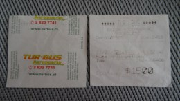 Bus Turbus Airport Ticket From Chile - Fahrkarte - Transportation