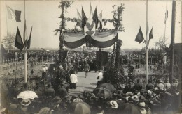 MACHELEN - CARTE PHOTO - BENEDICTION DU CIMETIERE NATIONAL FRANCAIS - 12 AOUT 1919 - Machelen