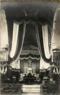 MACHELEN - CARTE PHOTO - DECORATION DE L EGLISE POUR LE SERVICE DES SOLDATS FRANCAIS LE 12 AOUT 1919 - Machelen