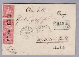 Heimat LU EICH 1876-11-17 Langstempel Auf R-Brief über Sempach Nach Willisau Mit 3x10Rp - Lettres & Documents