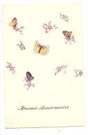 Vieille Poule Humanisée Et Poussins  Joyeuses Pâques - Illustrateur - Ecrite TB Petit Pli - Butterflies
