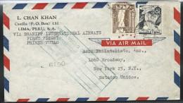 Lettre Par Avion De Lima Pour Les USA  Juin 1948 - Pérou