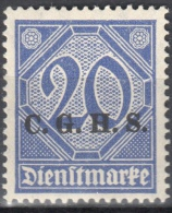 Germany 1920 Upper Silesia - Official Stamps - Mi. 11 - MNH (**) - Postfrisch - Allemagne