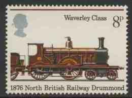 """Great Britain 1975 Mi 683 YT 761 Sc 750 ** """"Abbotsford"""" (1876) – Waverly Class / Abbotsford"""" Von Dugald Drummond (1876) - Treinen"""
