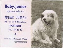 BABY JUNIOR LADAME DUMAS A POITIERS - Calendriers