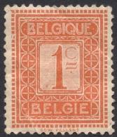 Belgium,  1 C. 1912, Sc # 92, Mi # 89, MH. - 1912 Pellens