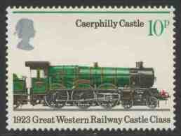 """Great Britain 1975 Mi 684 YT 762 Sc 751 ** """"Caerphilly Castle"""" (1923) – Castle Class Von C. B. Collett (1923) - Treinen"""