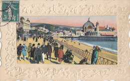 Fantaisies - Carte Gaufrée Houx - Nice Promenade Des Anglais - Ancien Casino - Fantaisies