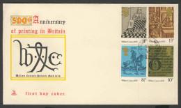 Great Britain 1976 FDC + Mi 719 /2 YT 803 /6 - 500th Ann. Of Printing In Britain – William Caxton's Printer's Mark 1476 - FDC