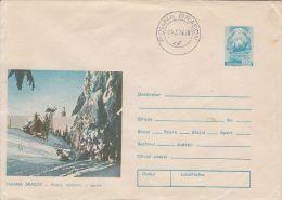 TOURISM, POIANA BRASOV MOUNTAIN RESORT, THE CABLE CAR, COVER STATIONERY, ENTIER POSTAL, 1976, ROMANIA - Holidays & Tourism