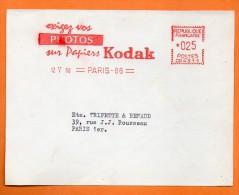 PARIS  EXIGEZ VOS PHOTOS SUR PAPIERS KODAK    1960 Devant De Lettre N° EMA 2297 - Marcophilie (Lettres)