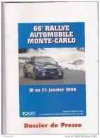 66 EME RALLYE AUTOMOBILE DE MONTE CARLO  1998  EN FRANCAIS ET ANGLAIS  48 PAGES  TB - Auto/Moto