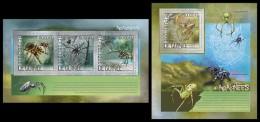 GUINEA 2014 - Spiders - YT 7187-9 + BF1657; CV = 43 € - Spinnen