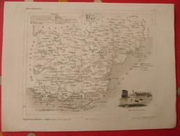 Var. Draguignan. Gravure Tirée De L´atlas Départemental. Michel Fils Ainé Lorrain Dandeleux. 1836. Département France - Prints & Engravings