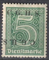 Germany 1920 Upper Silesia - Official Stamps - Mi. 8 - MLH (*) - Mit Falz - Allemagne