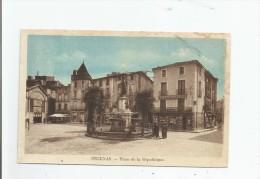 PEZENAS PLACE DE LA REPUBLIQUE (LIBRAIRIE IMPRIMERIE MARTY) - Pezenas