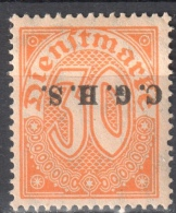 Germany 1920 Upper Silesia - Official Stamps - Mi. 12 - MLH (*) - Mit Falz - Allemagne