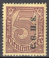 Germany 1920 Upper Silesia - Official Stamps - Mi. 20 - MLH (*) - Mit Falz - Allemagne
