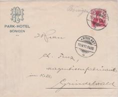 SUISSE  1911 LETTRE DE BÖNIGEN - Svizzera