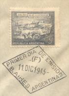 DIA DE LA EXPORTACION - INTERNATIONAL TRADERS DAY - EXPORTS DAY - COMMEMORATION 1809-1943 VIÑETA DEL PUERTO DE BUENOS AI - Fábricas Y Industrias