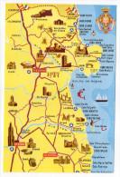 Espagne--FIGUERAS--carte Géographique Publicitaire Illustrée  GARRE  Tailleur--Foto Meli---carte Pas Très Courante - Gerona